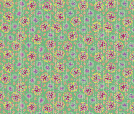Kantha Floral8 fabric by bee&lotus on Spoonflower - custom fabric
