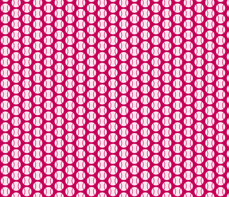 Small Half-Drop Pink Tennis Balls fabric by audreyclayton on Spoonflower - custom fabric