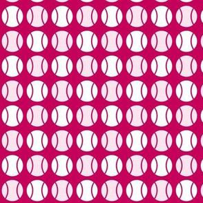 Small Pink Tennis Balls