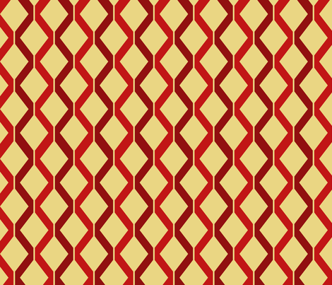 Retro Ray Gun Coordinate Red fabric by indelibleink on Spoonflower - custom fabric