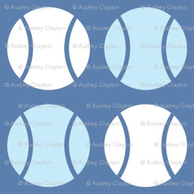Small Blue Tennis Balls