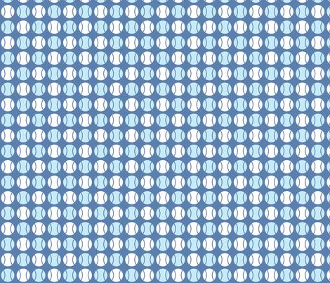 Small Blue Tennis Balls fabric by audreyclayton on Spoonflower - custom fabric