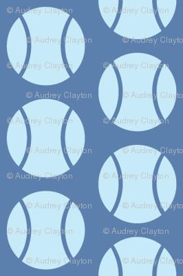 Small Half-Drop Blue Tennis Balls