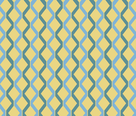 Retro Ray Gun Coordinate Blue fabric by indelibleink on Spoonflower - custom fabric