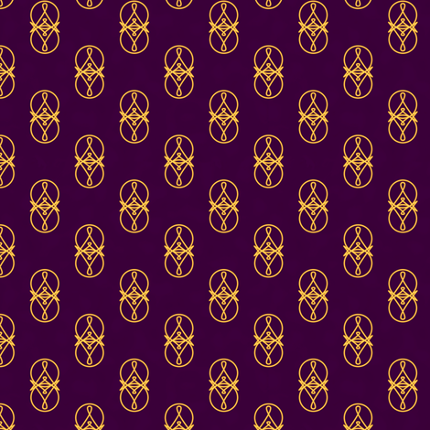 Magickal Charms (Purple) fabric by taracrowleythewyrd on Spoonflower - custom fabric