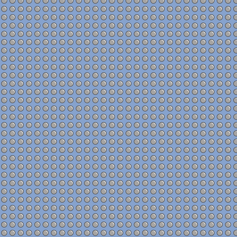 Robot Panels with Small Rivets on Blue fabric by taracrowleythewyrd on Spoonflower - custom fabric