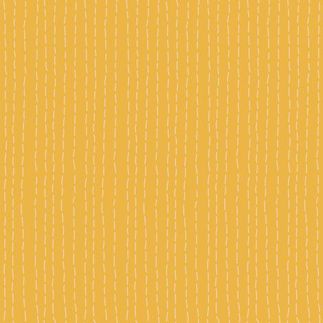Kantha Stitch Marigold fabric by bee&lotus on Spoonflower - custom fabric