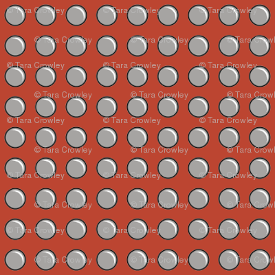 Robot Panels with Small Rivets on Red