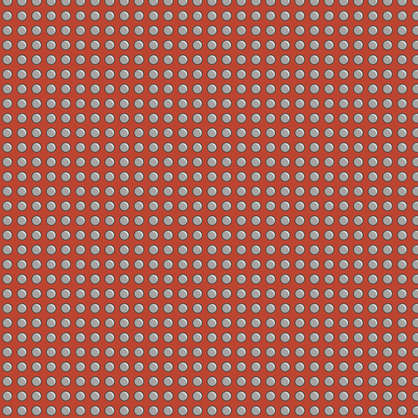 Robot Panels with Small Rivets on Red fabric by taracrowleythewyrd on Spoonflower - custom fabric