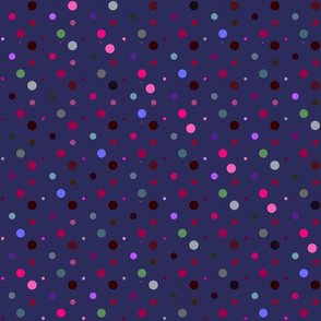 Purple Dots Dark Small