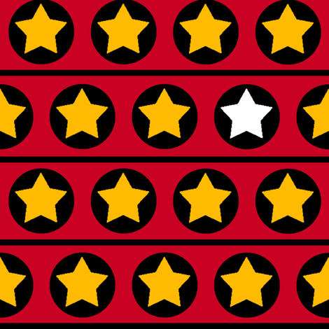 Stars and stripes_red,yellow,black fabric by celebrindal on Spoonflower - custom fabric