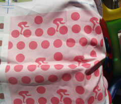 Cycle race candy dot
