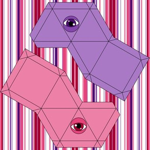 Pyramid Swatch Toy- Pink and Purple