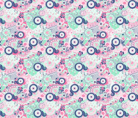 Flamingo Paradise Fresh fabric by johanna_lange_designs on Spoonflower - custom fabric