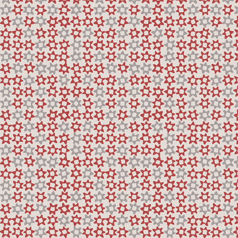 MINI_STAR_RED fabric by glorydaze on Spoonflower - custom fabric