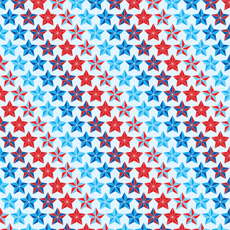 Stars in stripes red white and blue fabric by ebygomm on Spoonflower - custom fabric