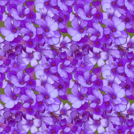 Purple Wood Sorrel - mini fabric by nezumiworld on Spoonflower - custom fabric