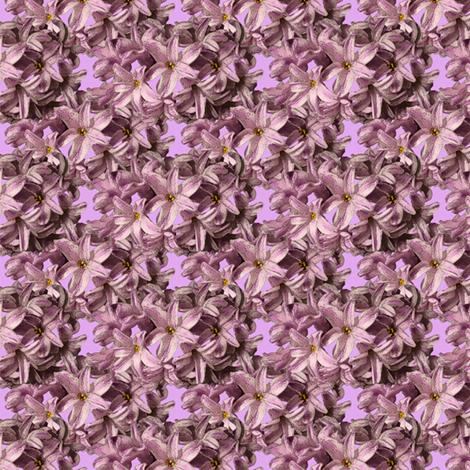 Hyacinth Flowers - pink petals fabric by nezumiworld on Spoonflower - custom fabric