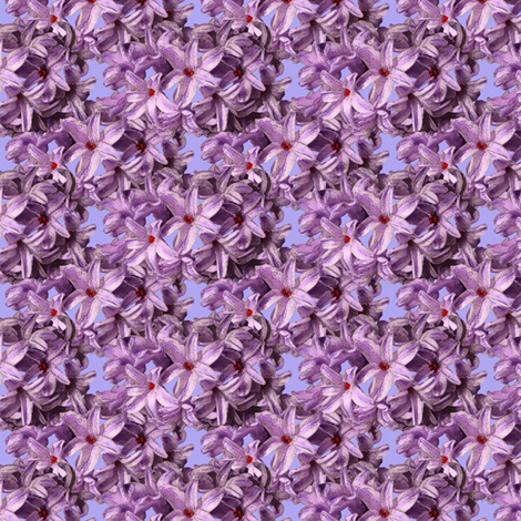 Hyacinth Flowers - pink petals fabric by nezumiworld on Spoonflower - custom fabric