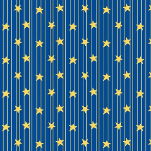 Gold stars and stripes - navy