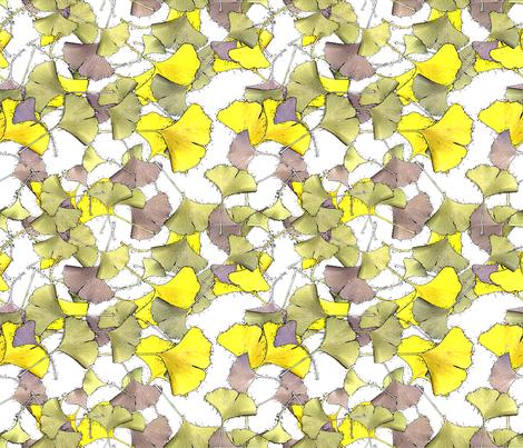 gingko fabric by moonbeam on Spoonflower - custom fabric