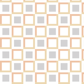 squares in squares - gray brown