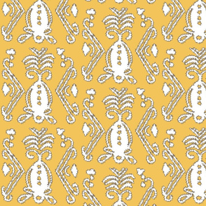 Pineapple Ikat Saffron