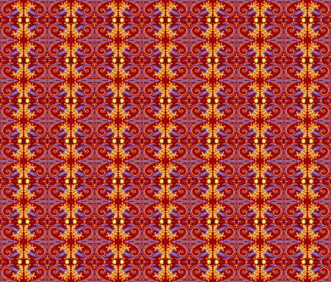 eppleyanna flaming flower-ed fabric by hooeybatiks on Spoonflower - custom fabric