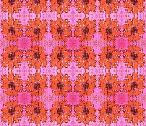 orange poppy fabric by hooeybatiks on Spoonflower - custom fabric
