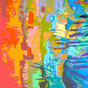 Abstract Landscape Tea Towel