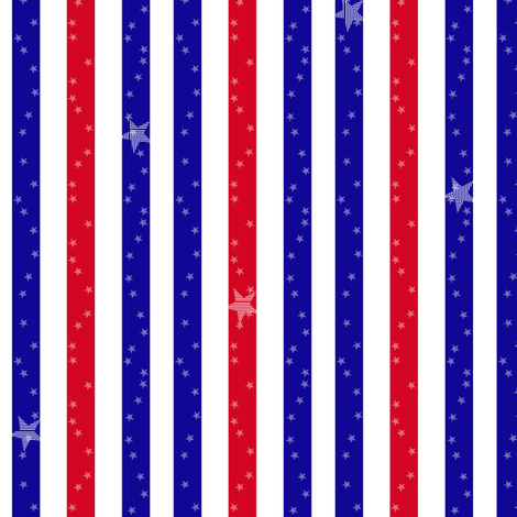 Stars & Stripes -  © PinkSodaPop 4ComputerHeaven.com fabric by pinksodapop on Spoonflower - custom fabric