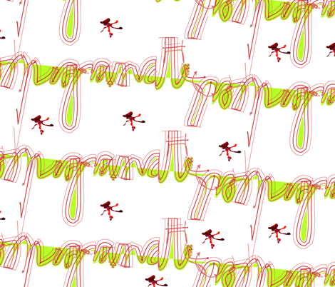 Pomegranate written all over, by Manon fabric by anders_nog_iets on Spoonflower - custom fabric