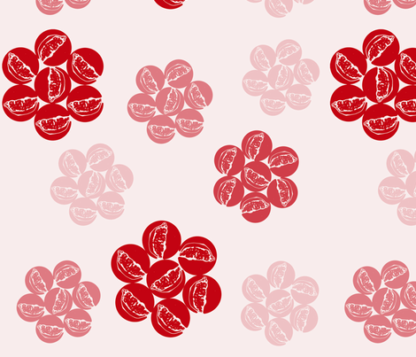 Pomegranate Flower fabric by crimson&clover on Spoonflower - custom fabric