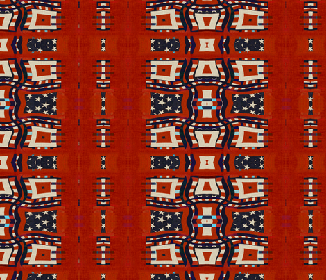 Waving Red White Blues Antiqued fabric by wren_leyland on Spoonflower - custom fabric