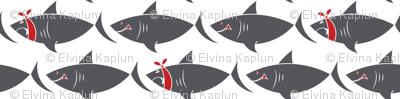 Shark on white-  Large