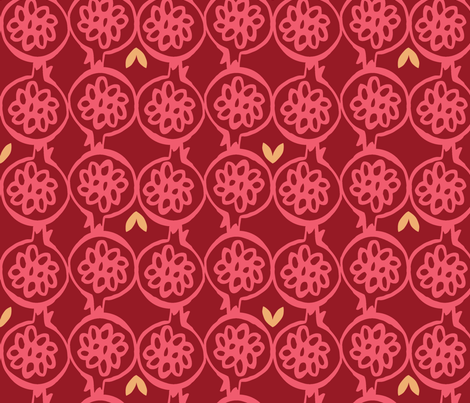 pomegranate fabric by ottomanbrim on Spoonflower - custom fabric
