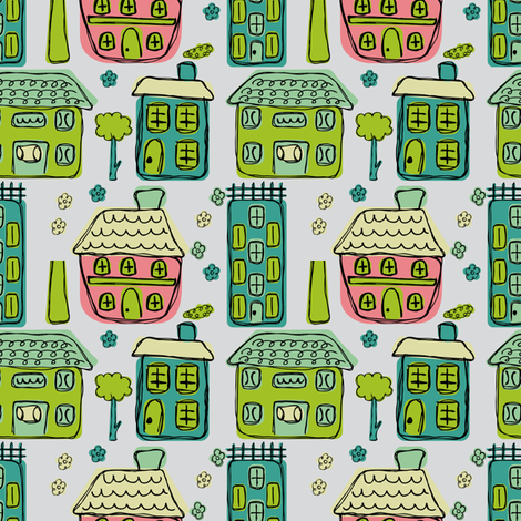 house_co-ordinate fabric by jlwillustration on Spoonflower - custom fabric