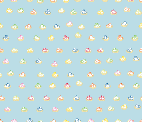 Iced Gems on Blue fabric by candyjoyce on Spoonflower - custom fabric