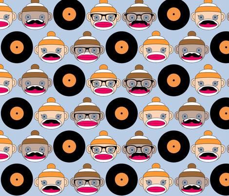 Hipster Sock Monkeys fabric by nmheinri on Spoonflower - custom fabric