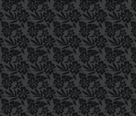 summer_girl_gray-black fabric by danielleonfire on Spoonflower - custom fabric