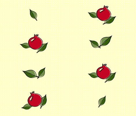 Granatäpple - Pomegranate - yardage fabric by designbypia on Spoonflower - custom fabric