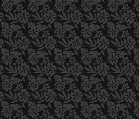 summer_girl_black fabric by danielleonfire on Spoonflower - custom fabric
