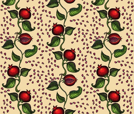 pomegranates fabric by poshcrustycouture on Spoonflower - custom fabric
