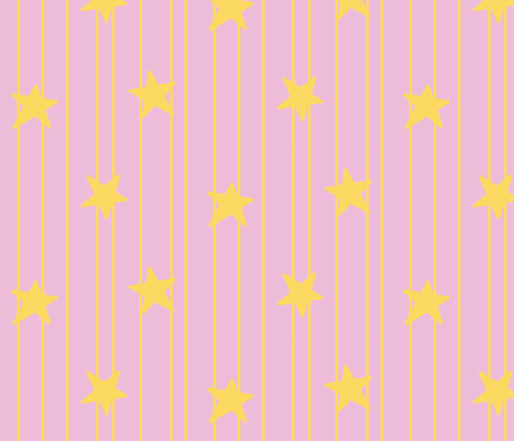 Gold stars and stripes - soft pink fabric by victorialasher on Spoonflower - custom fabric