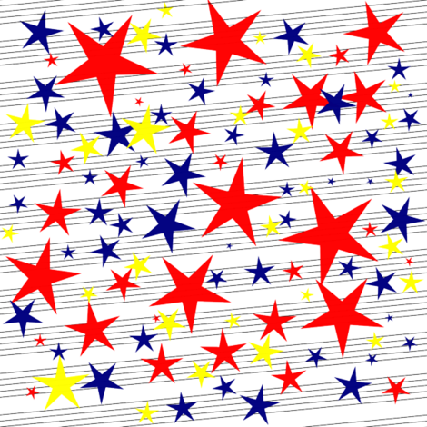 starstripe fabric by science on Spoonflower - custom fabric