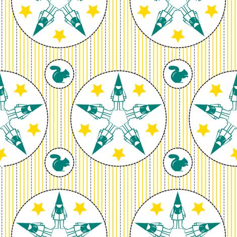 Star Struck Gnomes fabric by thebon on Spoonflower - custom fabric