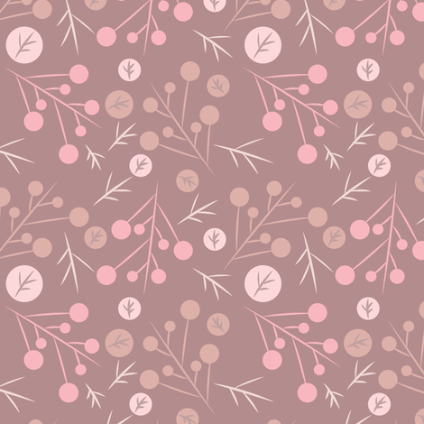 Pink Branches fabric by bojudesigns on Spoonflower - custom fabric