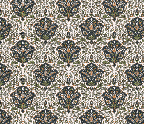 Elezabethan Meadow fabric by flyingfish on Spoonflower - custom fabric