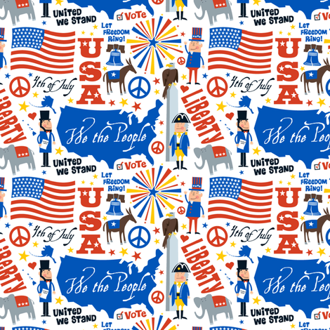 We the People fabric by edward_elementary on Spoonflower - custom fabric