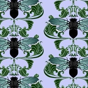 Greenwing Cicada Damask